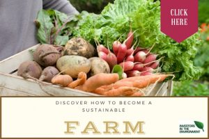 Discover ways to become a sustainble farm image with crops and link to a survey form